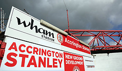 A general view of the Wham Stadium, home of Accrington Stanley - Mandatory by-line: Joe Dent/JMP - 12/09/2020 - FOOTBALL - Wham Stadium - Accrington, England - Accrington Stanley v Peterborough United - Sky Bet League One