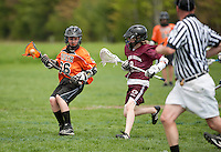 Lakes Region Lacrosse U13 boys versus Keene Orange Crush May 13, 2012.