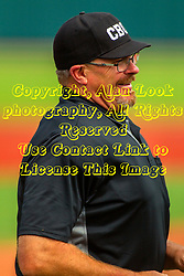 25 May 2019:  Umpire Bill McGuire. Missouri Valley Conference Baseball Tournament - Dallas Baptist Patriots v Indiana State Sycamores at Duffy Bass Field in Normal IL<br /> <br /> #MVCSPORTS