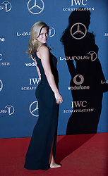 © Licensed to London News Pictures. 06/02/2012. London, UK.  Model Bar Refaeli arriving on the red carpet for the Laureus World Sports Awards 2012. Dozens of sports and Hollywood celebrities arrived in the English capital to attend the event held at the Queen Elizabeth II Conference Centre in the same year that London will host the Olympic Games. Photo credit : Ben Cawthra/LNP