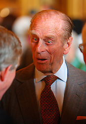 The Duke of Edinburgh at a reception held at Windsor Castle for the Bloomsbury Qatar Foundation Publishing Project.