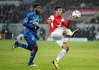 Fotball<br /> Tyskland<br /> 17.02.2012<br /> Foto: Witters/Digitalsport<br /> NORWAY ONLY<br /> <br /> v.l. Ryan Babel, Marco Caligiuri (Mainz)<br /> <br /> Bundesliga, TSG 1899 Hoffenheim - FSV Mainz 05