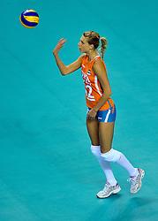 18-09-2011 VOLLEYBAL: DELA TROPHY NEDERLAND - TURKIJE: ALMERE<br /> Nederland wint met 3-0 van Turkije en wint hierdoor de DELA Trophy / Captain Manon Flier<br /> ©2011-FotoHoogendoorn.nl