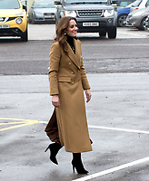 The Duchess of Cambridge during a visit to HMP Send near Woking in Surrey. The duchess was taking part in a 24-hour tour of the country