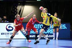HERNING, DENMARK - DECEMBER 3, 2020: Emma Lindqvist during the EHF Euro 2020 Group C match between Sweden and Czech Republic in Jyske Bank Boxen, Herning, Denmark on December 3 2020. Photo Credit: Allan Jensen/EVENTMEDIA.