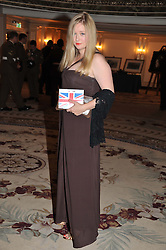 SASHA WILKINS at Fashion For The Brave held at The Dorchester Hotel, Park Lane, London on 20th September 2012.