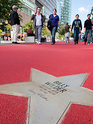 Star of Billy Wilder at new Boulevard der Stars a special boulevard tribute to movie stars  at Potsdamer Platz in Berlin opened 10 September 2010