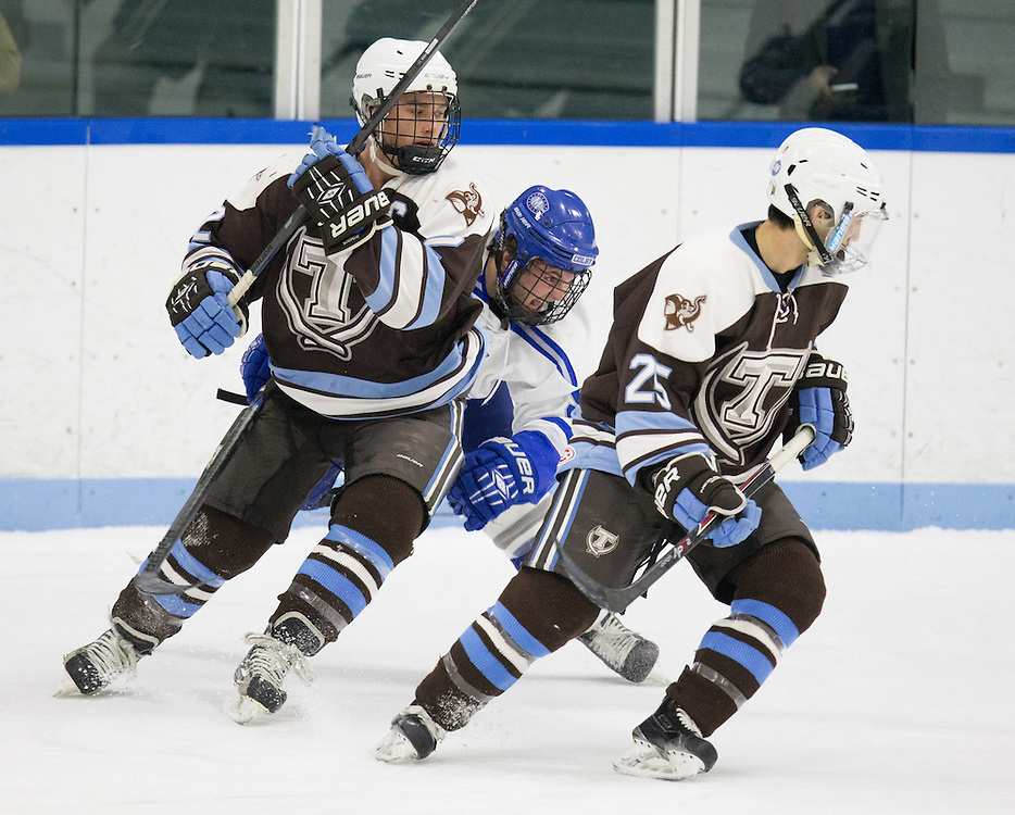 EJ Rauseo, of Colby College, in a NCAA Division III hockey game against Tufts University on February 20, 2015 in Waterville, ME. (Dustin Satloff/Colby College Athletics)