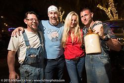 "Moonshiners TV show's ""Bootleg Bill"" and ""Moonshiner Josh"" at the Broken Spoke Saloon during Daytona Beach Bike Week 2015. FL, USA. March 13, 2015.  Photography ©2015 Michael Lichter."