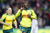 Fotball<br /> Frankrike<br /> Foto: Dppi/Digitalsport<br /> NORWAY ONLY<br /> <br /> FOOTBALL - FRENCH CHAMPIONSHIP 2006/2007 - LEAGUE 1 - FC NANTES v AS NANCY LORRAINE - 10/03/2007 - JOY MAMADOU DIALLO (NANT) AFTER HIS GOAL