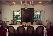 Dining Room, Washington Place, Honolulu, Hawaii<br />