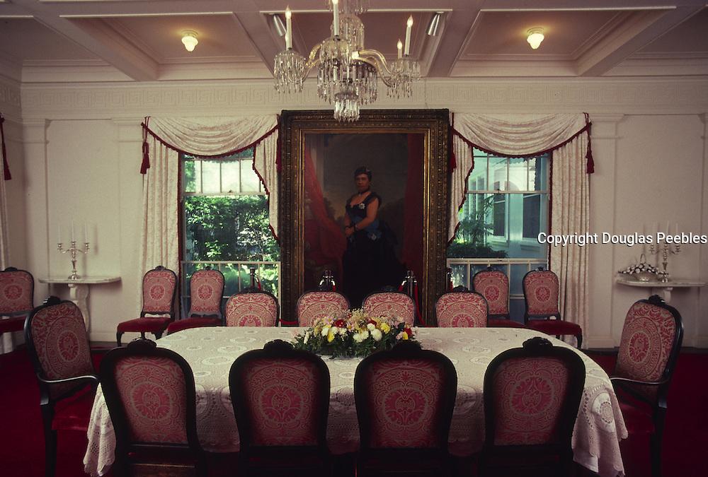 Dining Room, Washington Place, Honolulu, Hawaii<br />