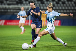 Marion Torrent of France and Dominika Conc of Slovenia during football match between Slovenia and France in 2nd round of Women's world cup 2023 Qualifying round on 21 of September, 2021 in Mestni stadion Fazanerija, Murska Sobota, Slovenia. Photo by Blaž Weindorfer / Sportida