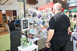 Food & craft fair, Norwich UK Sep 2020 - many stalls selling Coronavirus masks