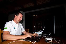 Gregor Stopar, media manager of Tour of Slovenia during 2nd Stage of 27th Tour of Slovenia 2021 cycling race between Zalec and Celje (147 km), on June 10, 2021 in Slovenia. Photo by Matic Klansek Velej / Sportida