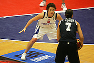 Womens international Basketball action during the 2008 to 2009 Eurobasket competition. Great Britain v Israel at the Welsh institute of sport in Cardiff.