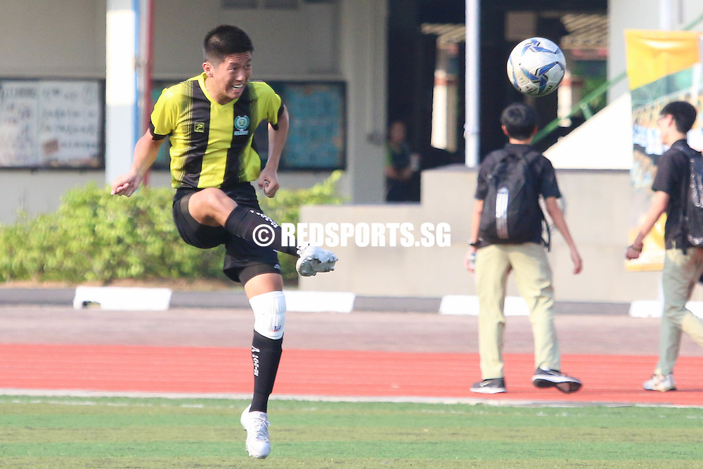 Temasek Junior College, Tuesday, April 12, 2016 — Temasek Junior College (TJC) secured a 2-0 victory over River Valley High School (RVHS) with a goal in each half to secure second round qualification in the National A Division Football Championship.