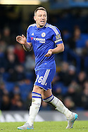 John Terry, the Chelsea captain attempts to motivate at this players. Barclays Premier league match, Chelsea v Everton at Stamford Bridge in London on Saturday 16th January 2016.<br /> pic by John Patrick Fletcher, Andrew Orchard sports photography.