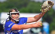 Freeburg pitcher Lizzy Ludwig throws early in the game. Freeburg defeated Nashville in the Class 2A sectional softball title game at Nashville High School in Nashville, IL on Thursday June 10, 2021. Tim Vizer/Special to STLhighschoolsports.com.