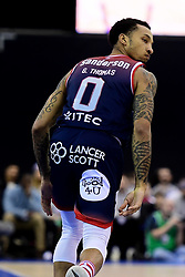 Gentry Thomas of Bristol Flyers - Photo mandatory by-line: Ryan Hiscott/JMP - 26/01/2020 - BASKETBALL - Arena Birmingham - Birmingham, England - Bristol Flyers v Worcester Wolves - British Basketball League Cup Final