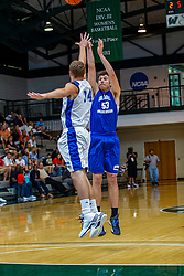 29 June 2013:  53 - Hunter Reine, 34 - Bodee Schlipf.  2013 Boys Illinois Basketball Coaches Association All Start game at the Shirk Center in Bloomington IL
