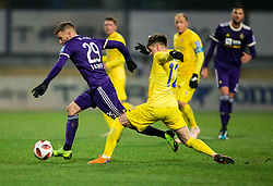 Jan Mlakar of NK Maribor vs Gregor Sikosek of NK Domzale during football match between NK Domzale and NK Maribior in 18th Round of Prva liga Telekom Slovenije 2018/19, on November 11, 2018 in Sportni Park, Domzale, Slovenia. Photo by Vid Ponikvar / Sportida