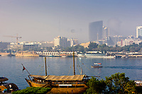 View of Dubai Creek from Deira side, Dubai, United Arab Emirates