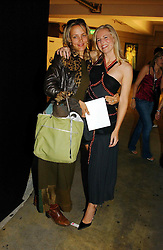 Left to right, MISS ALANNAH WESTON daughter of Galen Weston and BAY GARNETT at Fashion Fringe - part of London fashion week held at the Selfridges Car Park, off Oxford Street, London on 22nd September 2004.<br /><br />NON EXCLUSIVE - WORLD RIGHTS