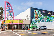 Star Movie Theater and Mural Wall Art Downtown Oceanside
