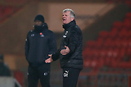 Glyn Hodges First Team Manager of AFC Wimbledon during the EFL Sky Bet League 1 match between Doncaster Rovers and AFC Wimbledon at the Keepmoat Stadium, Doncaster, England on 26 January 2021.