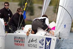Damien Iehl, French Match Racing Team. St Moritz Match Race 2010. World Match Racing Tour. St Moritz, Switzerland. 2nd September 2010. Photo: Ian Roman/WMRT.
