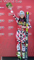 Winner FENNINGER Anna (AUT)  celebrates at flower ceremony after the 5th Ladies' Giant slalom at 51st Golden Fox of Audi FIS Ski World Cup 2014/15, on February 21, 2015 in Pohorje, Maribor, Slovenia. Photo by Vid Ponikvar / Sportida