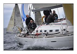 Savills Kip Regatta 2011, the opening regatta of the Scottish Yachting Circuit, held on the Clyde...Playing FTSE, GBR603R, Beneteau 47.7.