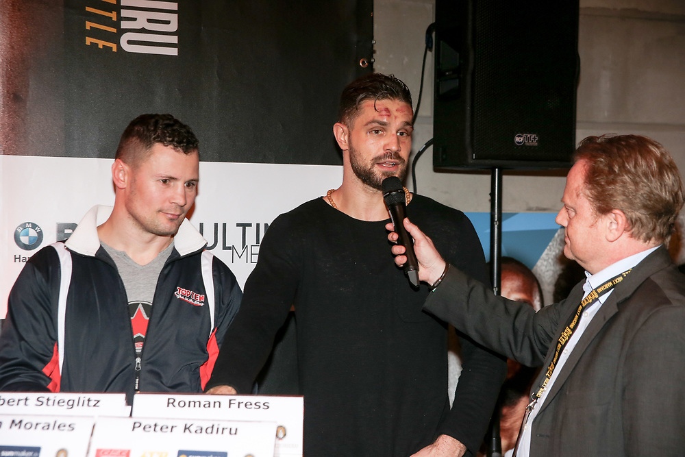 BOXEN: EC Boxing & SES Boxing, Hamburg, 18.01.2020<br /> Pressekonferenz: Trainer Robert Stieglitz und Roman Fress<br /> © Torsten Helmke