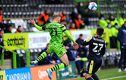 Scott Wagstaff of Forest Green Rovers heads the highball- Mandatory by-line: Nizaam Jones/JMP - 17/10/2020 - FOOTBALL - innocent New Lawn Stadium - Nailsworth, England - Forest Green Rovers v Stevenage - Sky Bet League Two