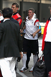14.07.2014, Galeao Airport, Rio de Janeiro, BRA, FIFA WM, Weltmeister Deutschland, Heimreise, Finale, im Bild Manuel Neuer (GER) und Bastian Schweinsteiger (GER) beim Rueckflugaus Rio de Janiero // during the Return of the German Team after FIFA Worldcup Brazil 2014 at the Galeao Airport in Rio de Janeiro, Brazil on 2014/07/14. EXPA Pictures © 2014, PhotoCredit: EXPA/ Eibner-Pressefoto/ CEZARO<br /> <br /> *****ATTENTION - OUT of GER*****