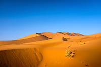 MEKNES - TAFILALET, MOROCCO - CIRCA APRIL 2017: Morning light  over the dunes of the Sahara Desert