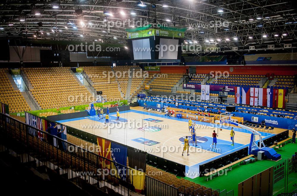 Arena Zlatorog 1 day before the beginning of Eurobasket 2013 on September 3, 2013 in Arena Zlatorog, Celje, Slovenia. (Photo by Vid Ponikvar / Sportida.com)
