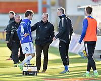 Fotball , 02. mai 2016 ,  Tippeligaen , Eliteserien ,<br /> Bodø Glimt - Sarpsborg 08<br /> Geir Bakke, Sarpsborg 08<br /> Joachim Thomassen, Sarpsborg 08, skade, bytte