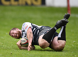 Pontpridds Joe Popple<br /> Cross Keys v Pontypridd RFC<br /> <br /> Photographer Mike Jones / Replay Images<br /> Pandy Park, Cross Keys.<br /> Wales - 12th May 2018.<br /> <br /> Cross Keys v Pontypridd RFC<br /> Principality Premiership<br /> <br /> World Copyright © Replay Images . All rights reserved. info@replayimages.co.uk - http://replayimages.co.uk