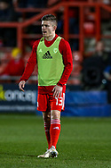 Wales defender Declan John warms up during the Friendly European Championship warm up match between Wales and Trinidad and Tobago at the Racecourse Ground, Wrexham, United Kingdom on 20 March 2019.