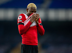 LIVERPOOL, ENGLAND - Monday, March 1, 2021: Southampton's Moussa Djenepo looks dejected after the FA Premier League match between Everton FC and Southampton FC at Goodison Park. Everton won 1-0. (Pic by David Rawcliffe/Propaganda)