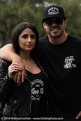 Arlen Ness' Motorcycles' Zach Ness and Alessandra Filosa (of Italy) at the Born Free Motorcycle Show (BF11) at Oak Canyon Ranch, Silverado  CA, USA. Saturday, June 22, 2019. Photography ©2019 Michael Lichter.