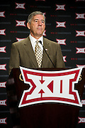 DALLAS, TX - JULY 21:  Big 12 commissioner Bob Bowlsby speaks during the Big 12 Media Day on July 21, 2014 at the Omni Hotel in Dallas, Texas.  (Photo by Cooper Neill/Getty Images) *** Local Caption *** Bob Bowlsby