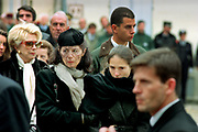 Francois Mitterrand Funeral in his home town of Jarnac in the Charente in south western France 11 January 1996<br />The mistress of Francois Mitterrand Anne Pingeot wearing black hat and their daughter Mazarine Pingeot with dar hair following the coffin of the former President.