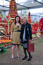 KIRSTIE ALLSOPP and her mother LADY HINDLIP at the 2011 RHS Chelsea Flower Show VIP & Press Day at the Royal Hospital Chelsea, London, on 23rd May 2011.