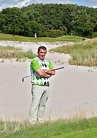 EEMNES -  pro ADRIAN MORLEY op zijn favoriete hole, hole 5 van de Goyer ,voor Golfjournaal. COPYRIGHT KOEN SUYK