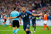 Kylian Mbappe (FRA) scored a goal and celebrated it during the UEFA Nations League, League A, Group 1 football match between France and Netherlands on September 9, 2018 at Stade de France stadium in Saint-Denis near Paris, France - Photo Stephane Allaman / ProSportsImages / DPPI
