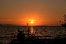 August 5, 2017 - Artaki, Euboea, Greece - Sunset in Artaki on Euboea, Greece on August 5, 2017. (Credit Image: © Wassilios Aswestopoulos/NurPhoto via ZUMA Press)