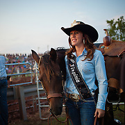 """Melissa McMullan, Miss Rodeo Virginia 2014, of Ft. Valley, VA, stands with her horse, Sarah, during the Dave Martin Rodeo, at the Prince William County Fair, in Manassas, VA, on Sunday, August 10, 2014.  McMullan represents Virginia regionally and nationally, while promoting """"rodeos and the western lifestyle"""" in Virginia.  John Boal Photography Melissa McMullan, Miss Rodeo Virginia 2014, of Ft. Valley, VA, stands with her horse, Sarah, during the Dave Martin Rodeo, at the Prince William County Fair, in Manassas, VA, on Sunday, August 10, 2014.  McMullan represents Virginia regionally and nationally, while promoting """"rodeos and the western lifestyle"""" in Virginia."""